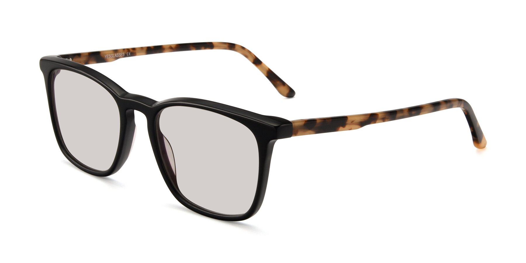 Angle of Vigor in Black-Tortoise with Light Brown Tinted Lenses