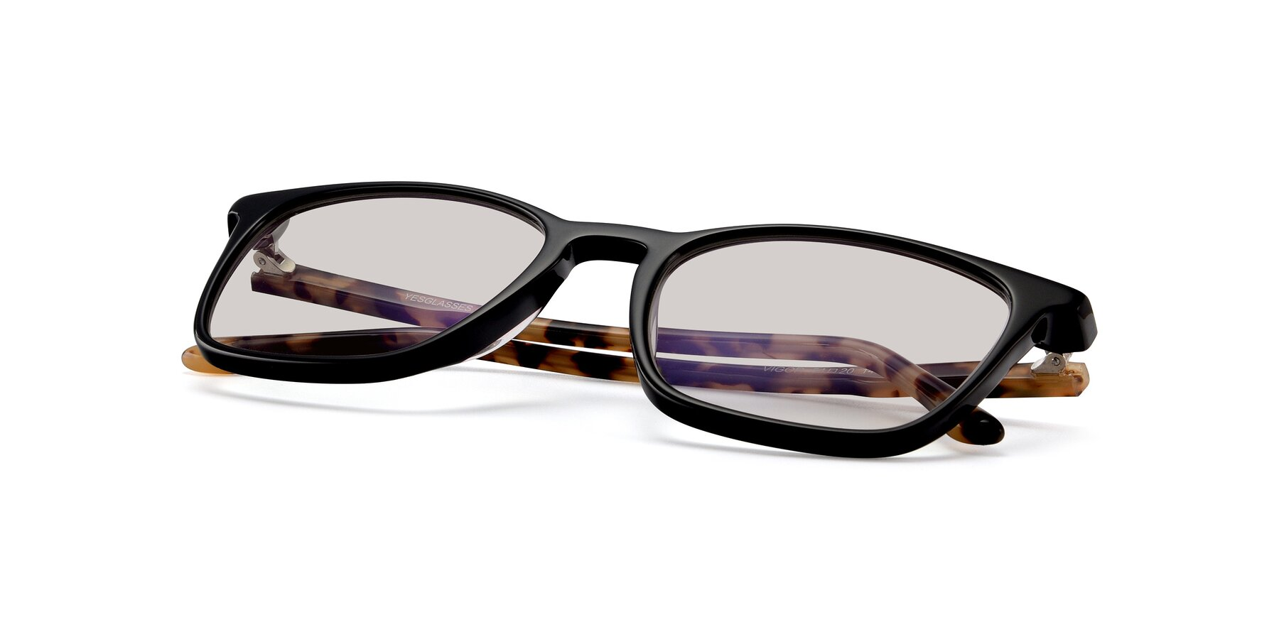 View of Vigor in Black-Tortoise with Light Brown Tinted Lenses