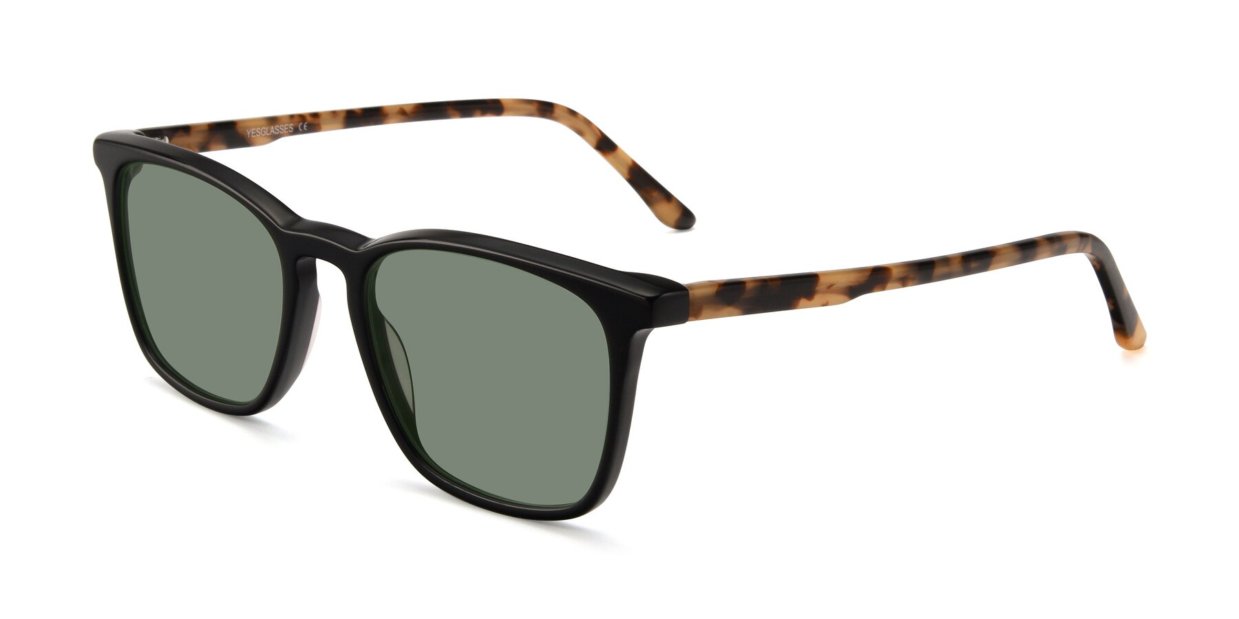 Angle of Vigor in Black-Tortoise with Medium Green Tinted Lenses