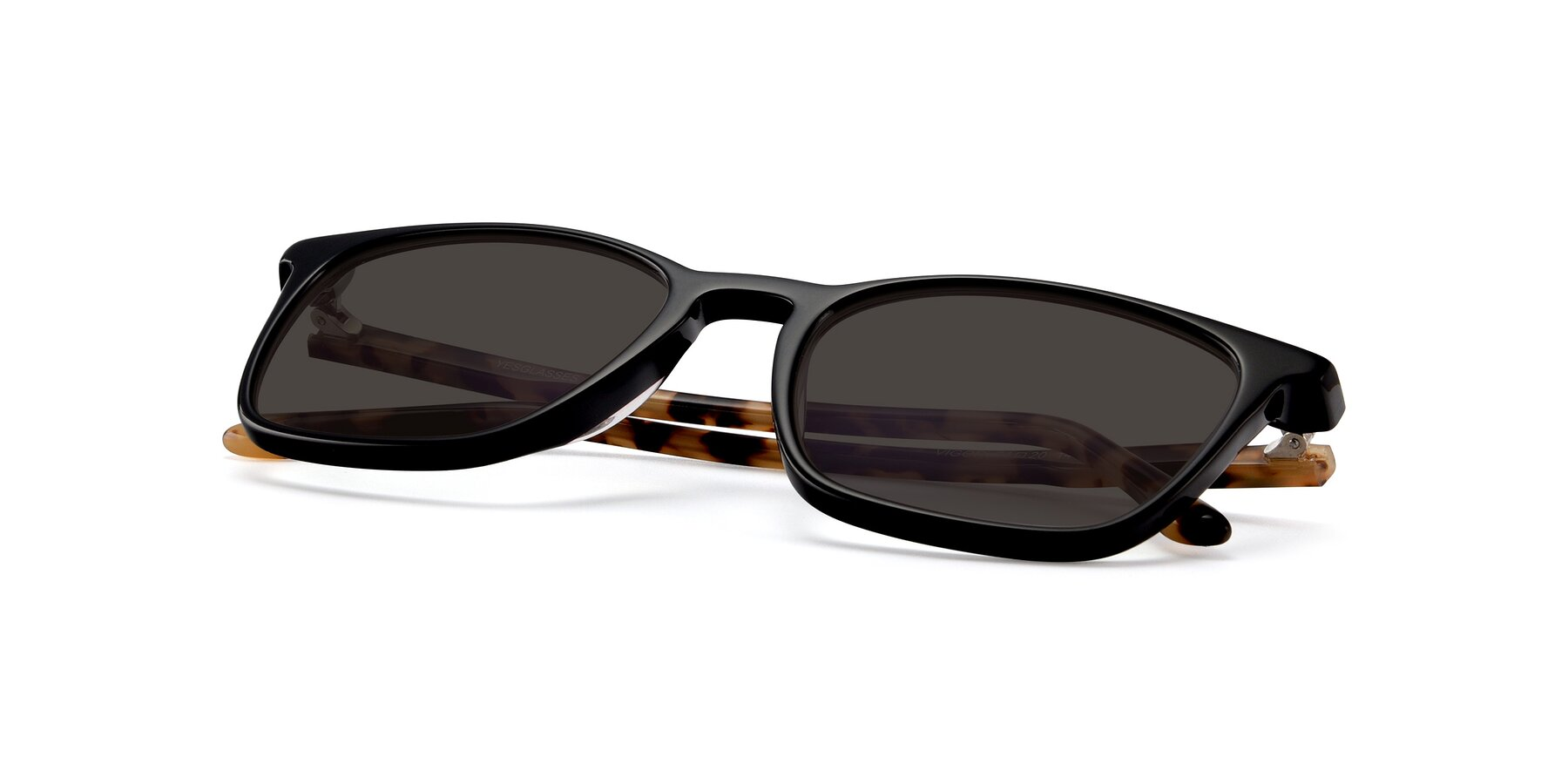 View of Vigor in Black-Tortoise with Gray Tinted Lenses