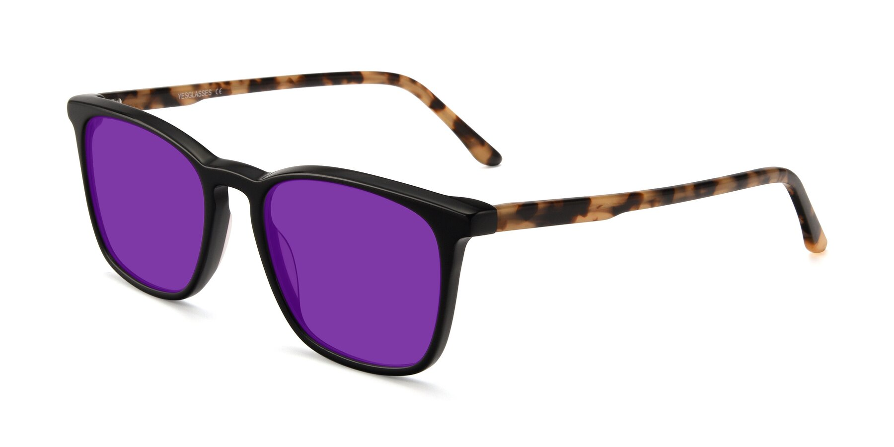 Angle of Vigor in Black-Tortoise with Purple Tinted Lenses