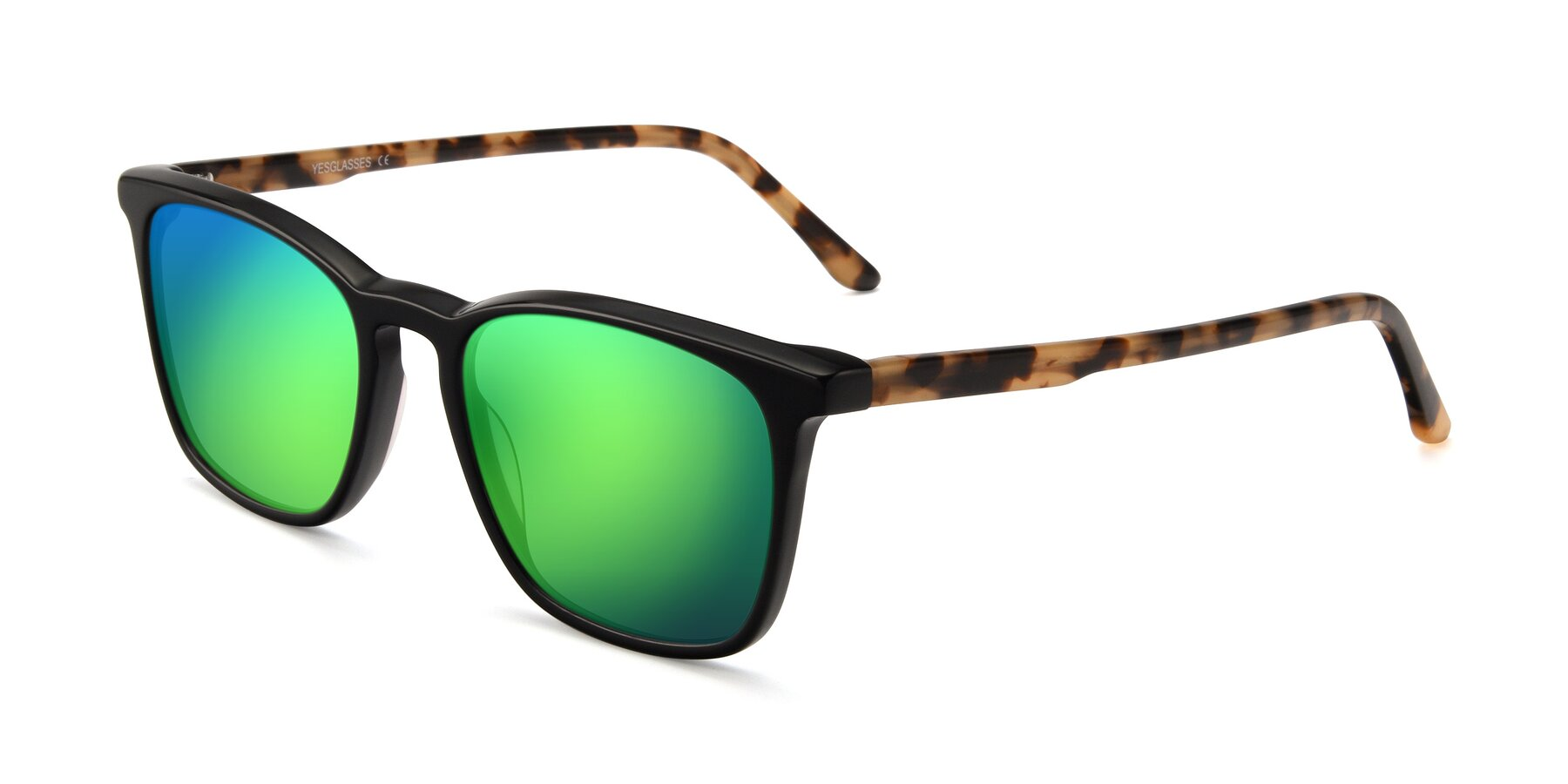 Angle of Vigor in Black-Tortoise with Green Mirrored Lenses