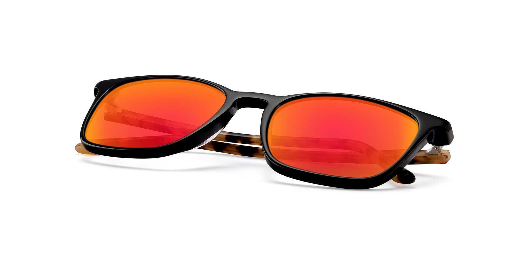 View of Vigor in Black-Tortoise with Red Gold Mirrored Lenses