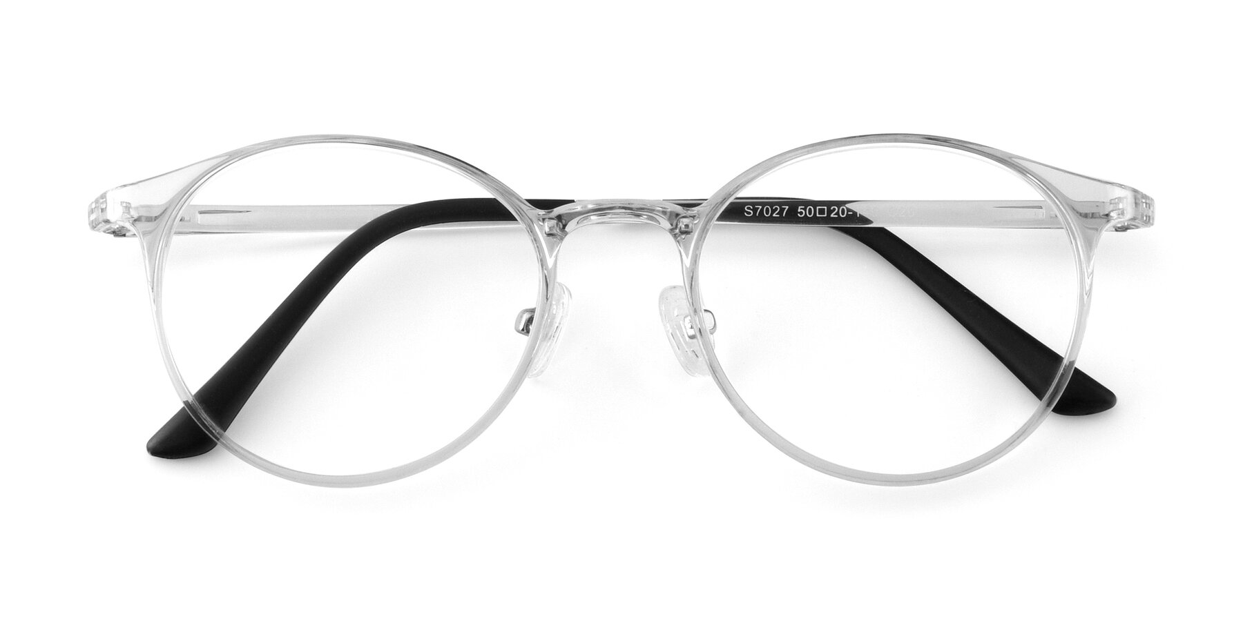 Folded Front of S7027 in Clear with Clear Eyeglass Lenses