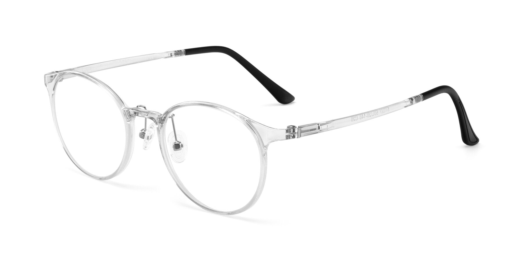 Angle of S7027 in Clear with Clear Eyeglass Lenses