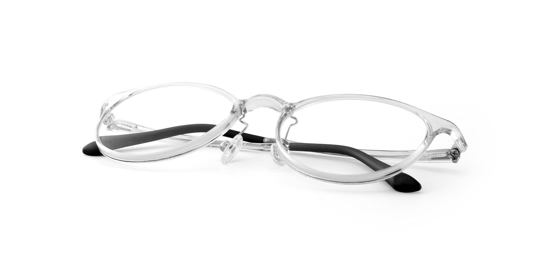 View of S7027 in Clear with Clear Eyeglass Lenses