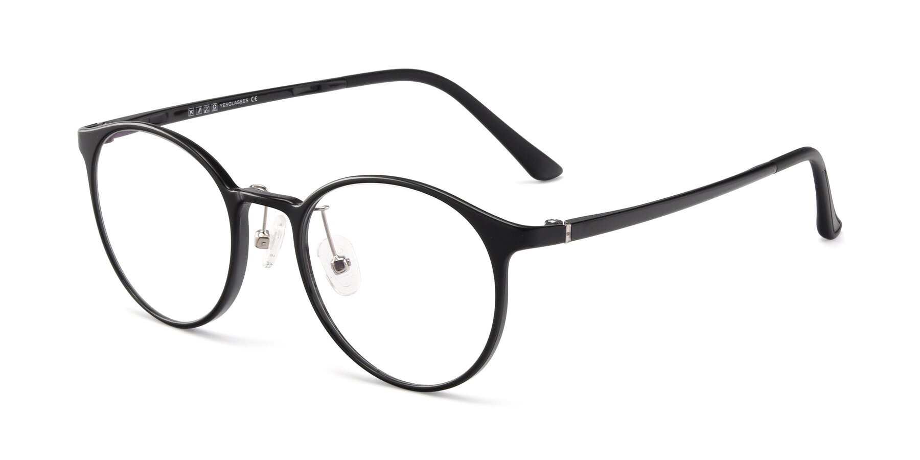 Angle of S7027 in Black with Clear Blue Light Blocking Lenses