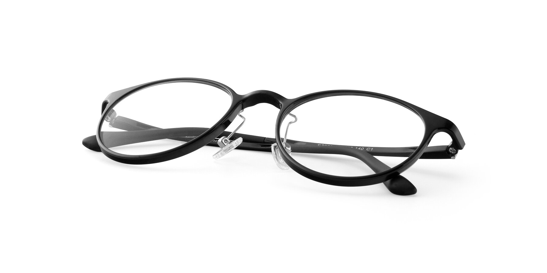 View of S7027 in Black with Clear Blue Light Blocking Lenses