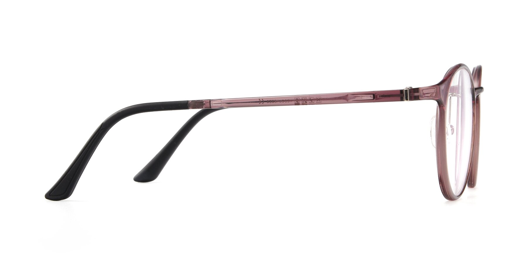 Side of S7027 in Transparent Brown with Clear Blue Light Blocking Lenses