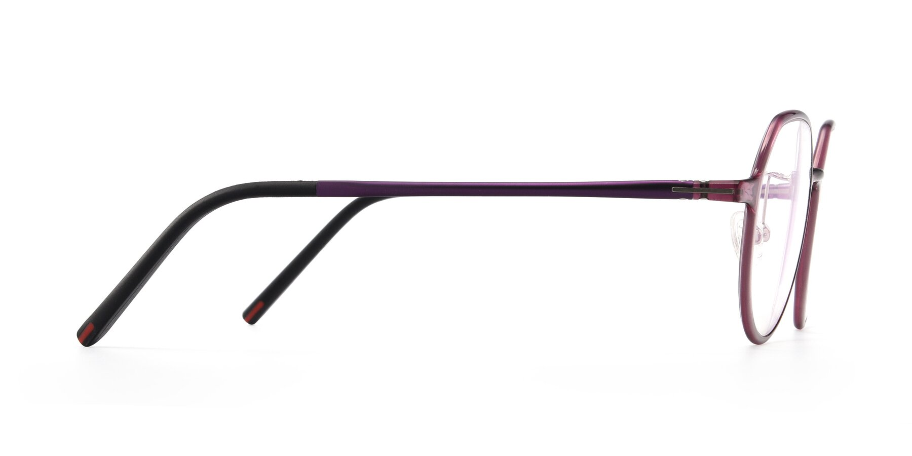 Side of IP7033 in Purple with Clear Blue Light Blocking Lenses