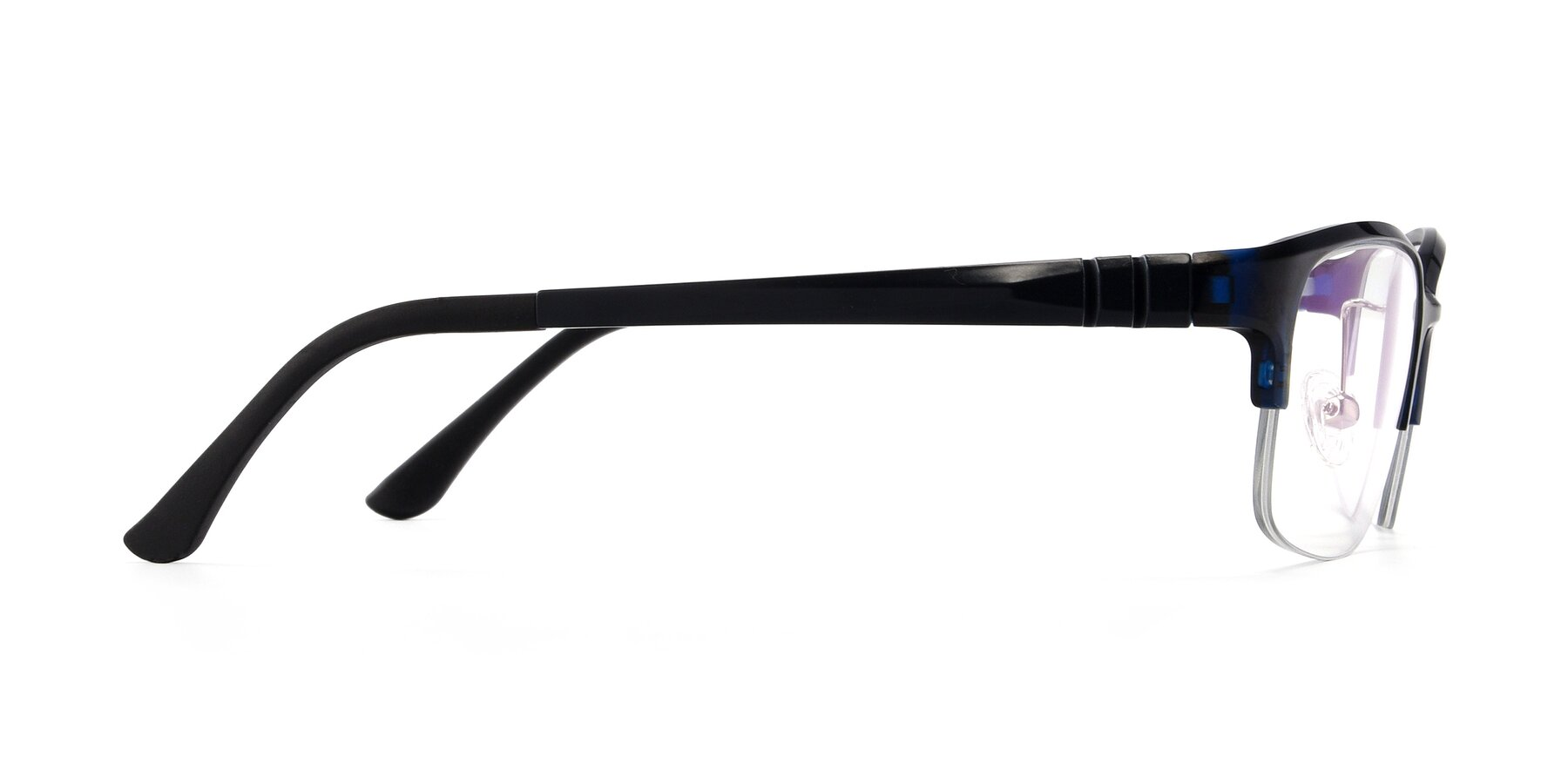 Side of S7043 in Black-Blue with Clear Eyeglass Lenses
