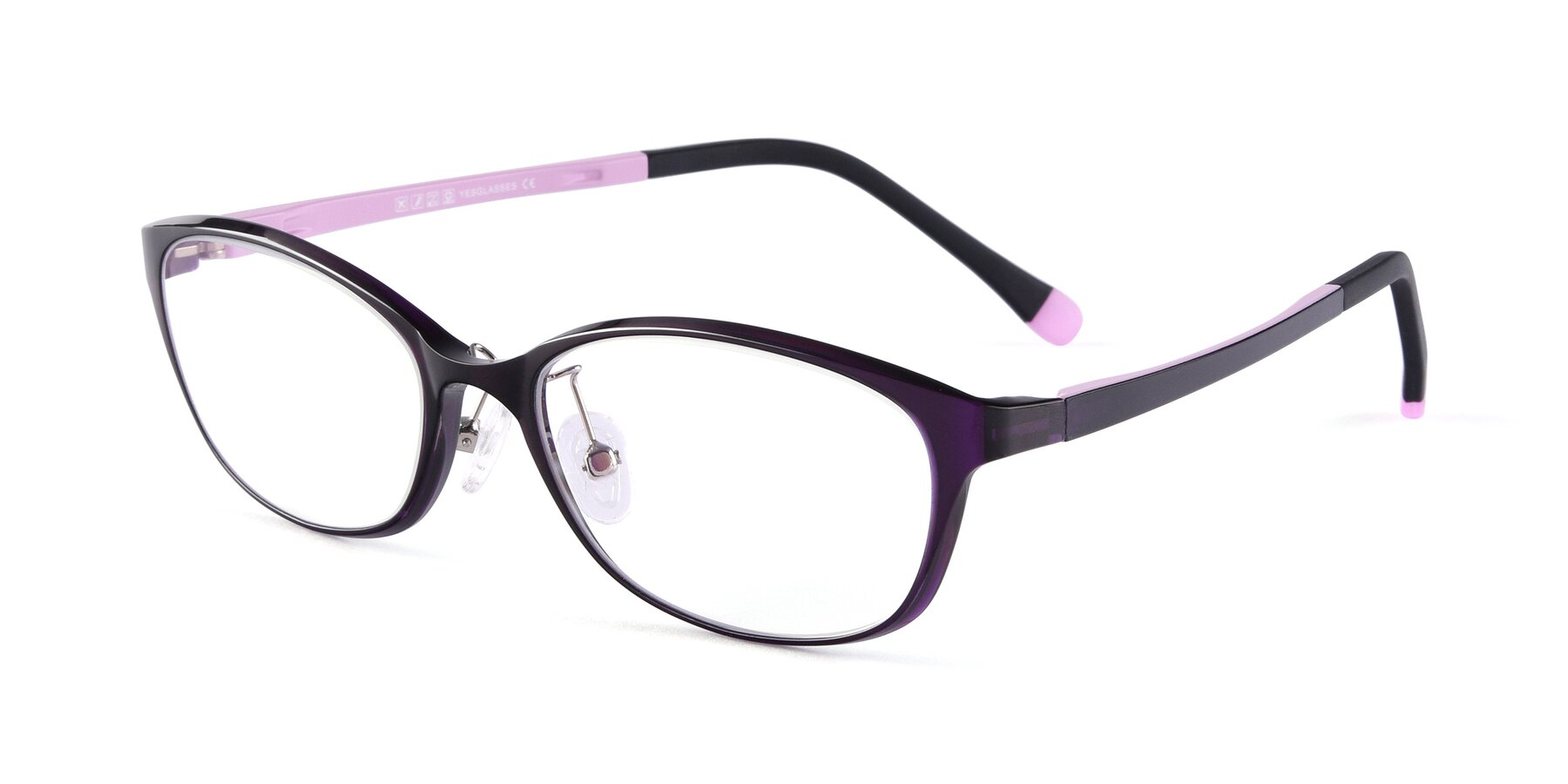 Angle of S7040 in Brown-Pink with Clear Blue Light Blocking Lenses