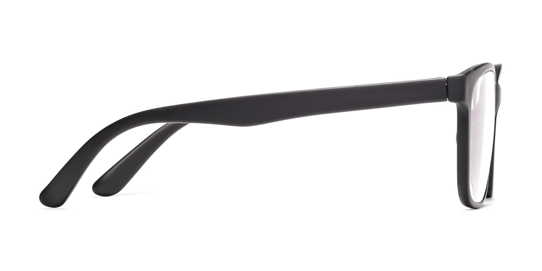 Side of 8206 in Matte Black with Clear Eyeglass Lenses