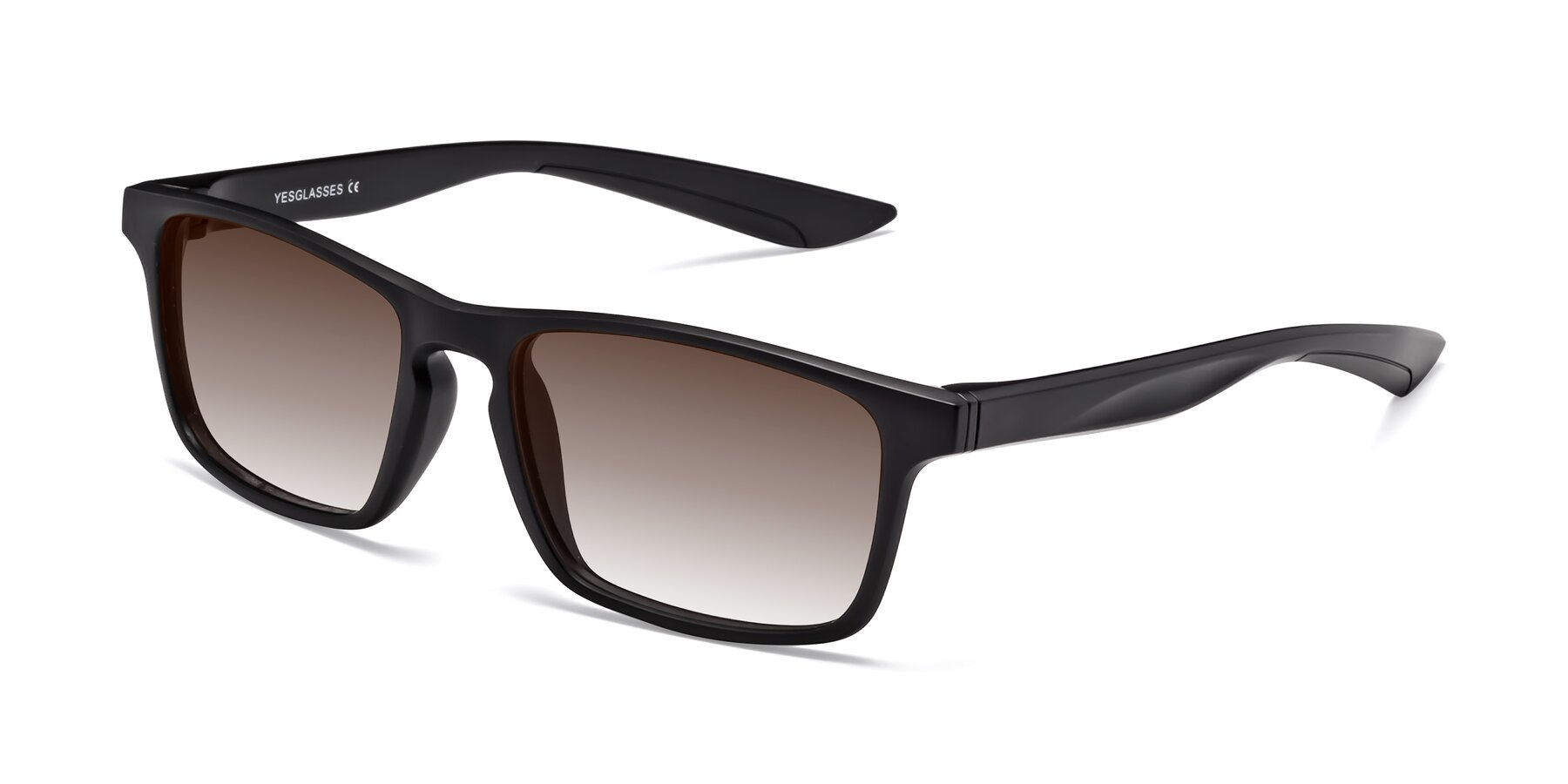Angle of Passion in Matte Black with Brown Gradient Lenses
