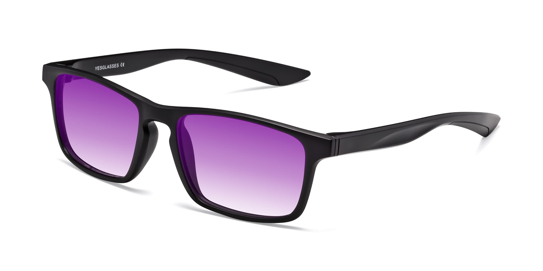 Angle of Passion in Matte Black with Purple Gradient Lenses