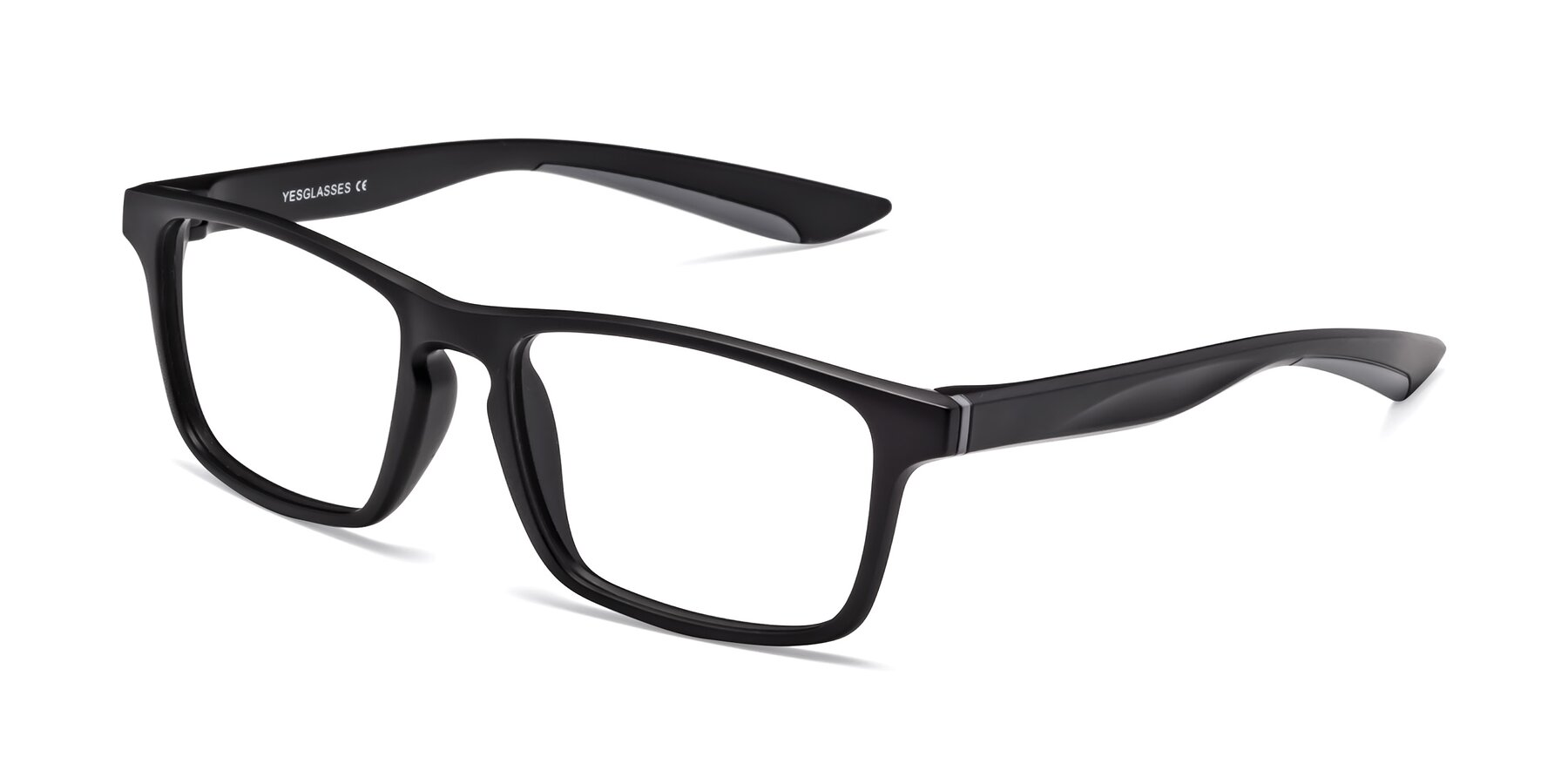 Angle of Passion in Matte Black-Gray with Clear Blue Light Blocking Lenses