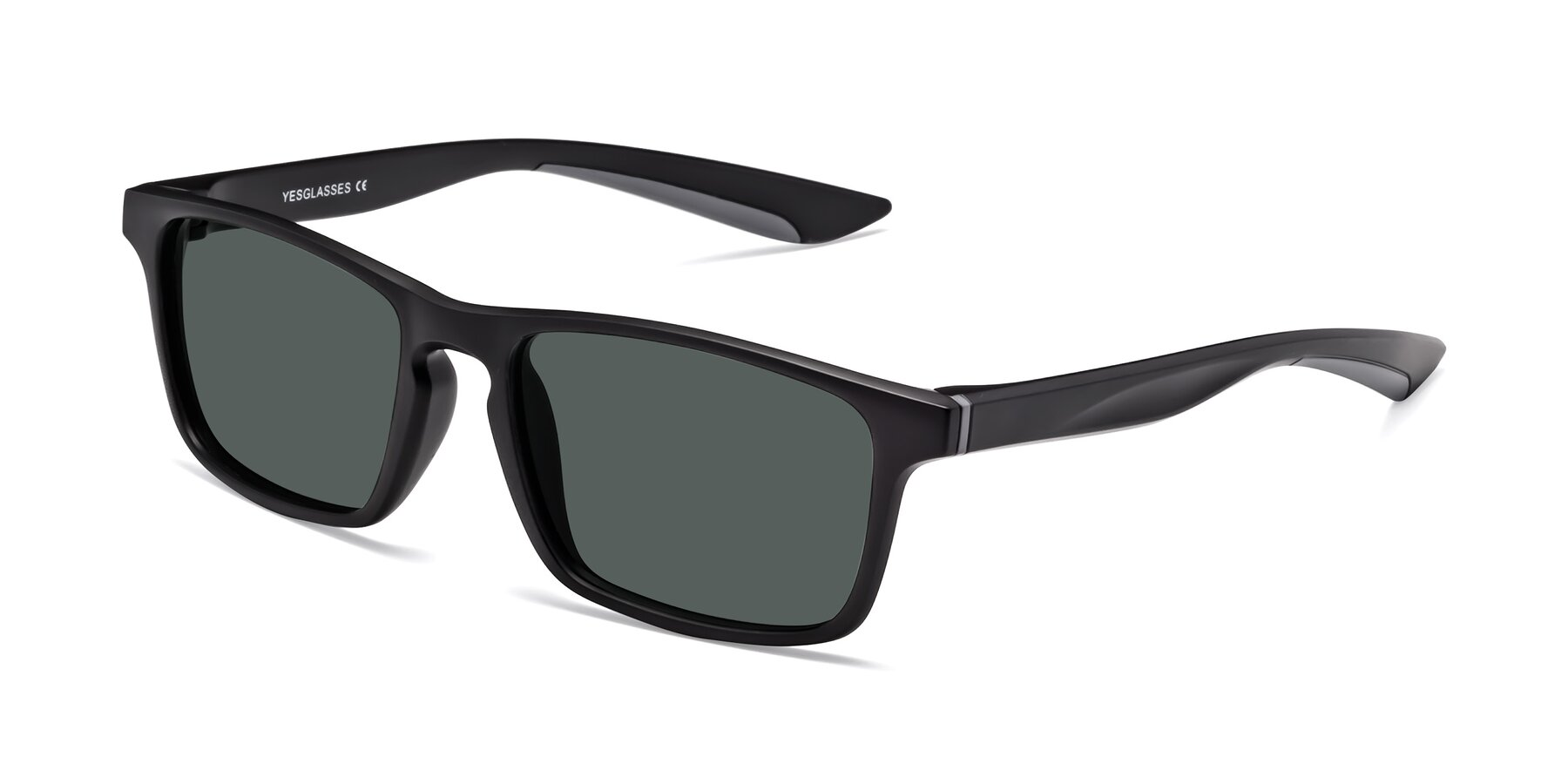 Angle of Passion in Matte Black-Gray with Gray Polarized Lenses