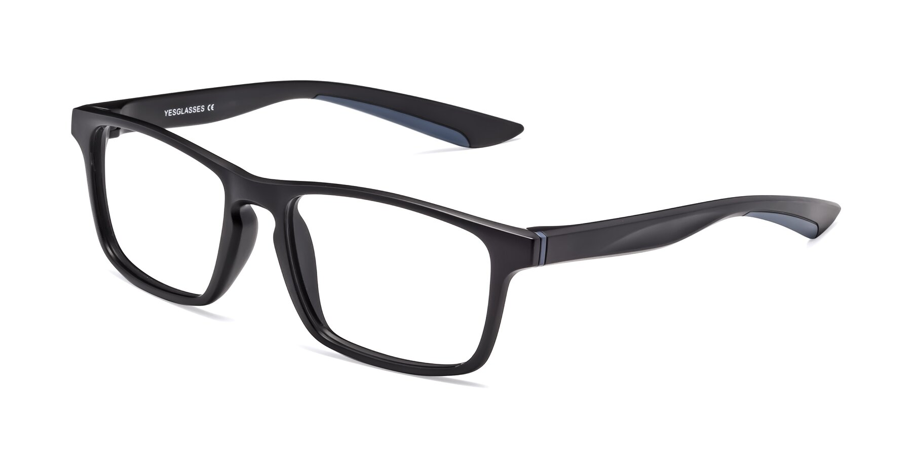 Angle of Passion in Matte Black-Blue with Clear Blue Light Blocking Lenses