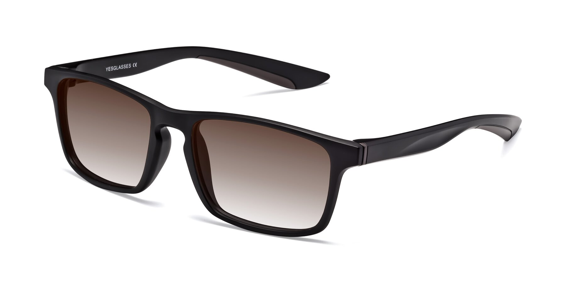 Angle of Passion in Matte Black-Coffee with Brown Gradient Lenses