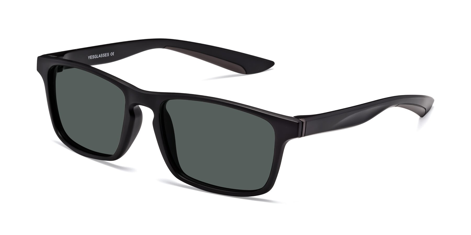 Angle of Passion in Matte Black-Coffee with Gray Polarized Lenses