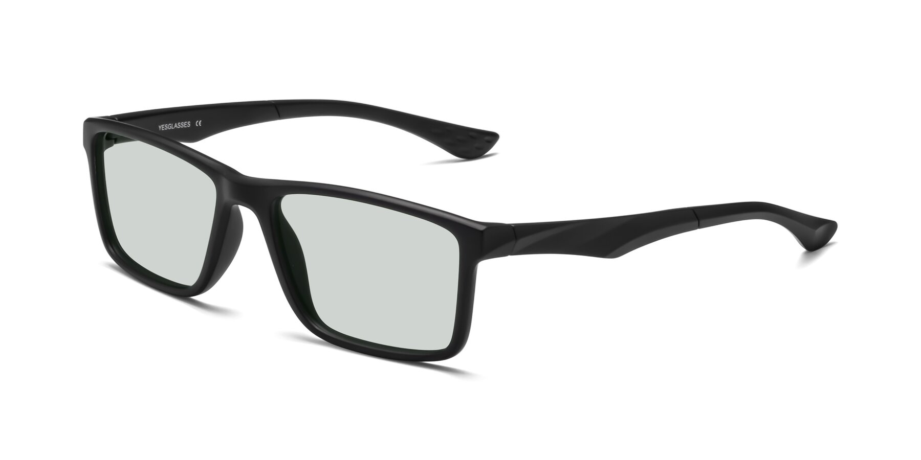 Angle of Engineer in Matte Black with Light Green Tinted Lenses