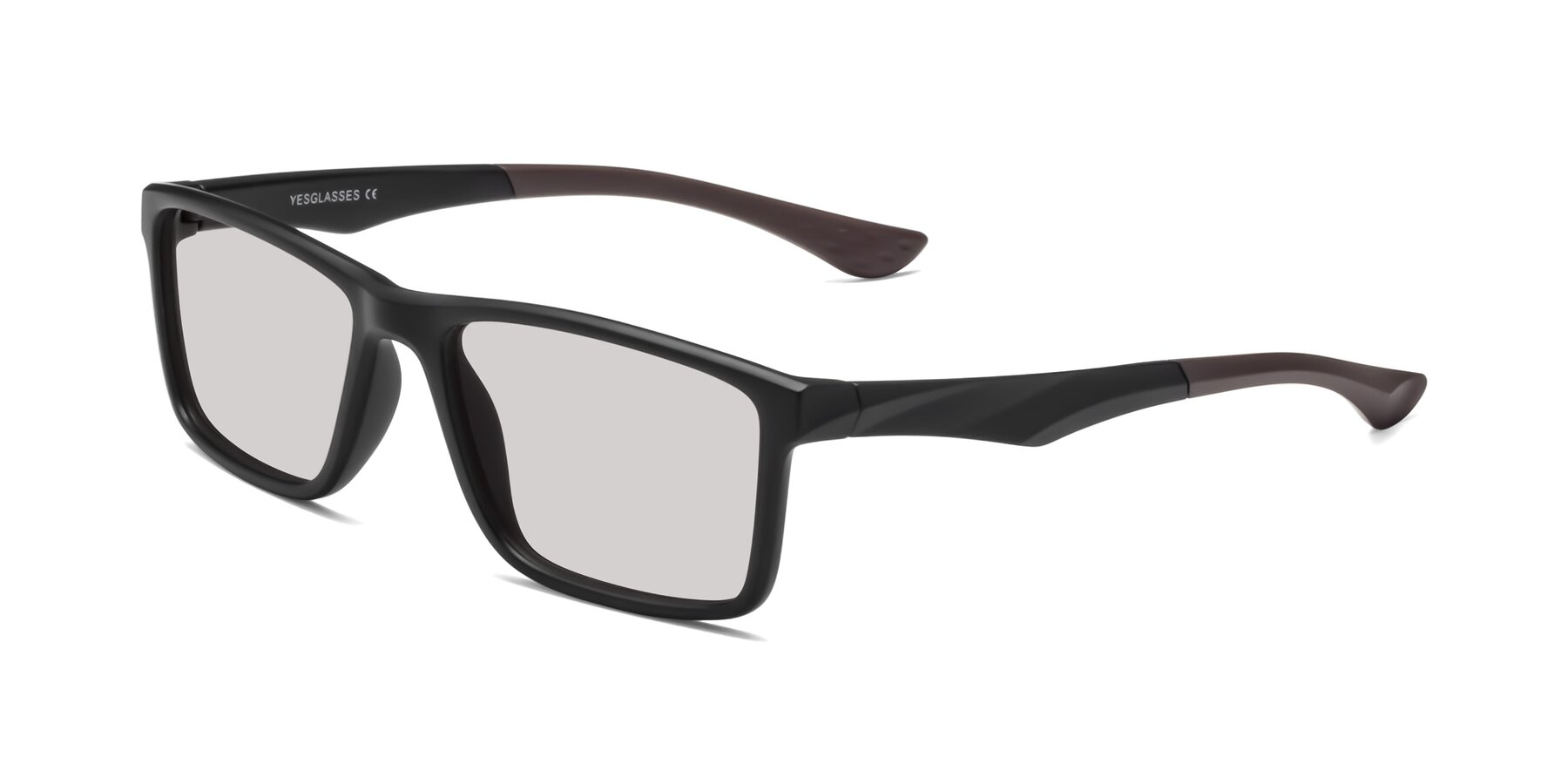 Angle of Engineer in Matte Black-Coffee with Light Gray Tinted Lenses