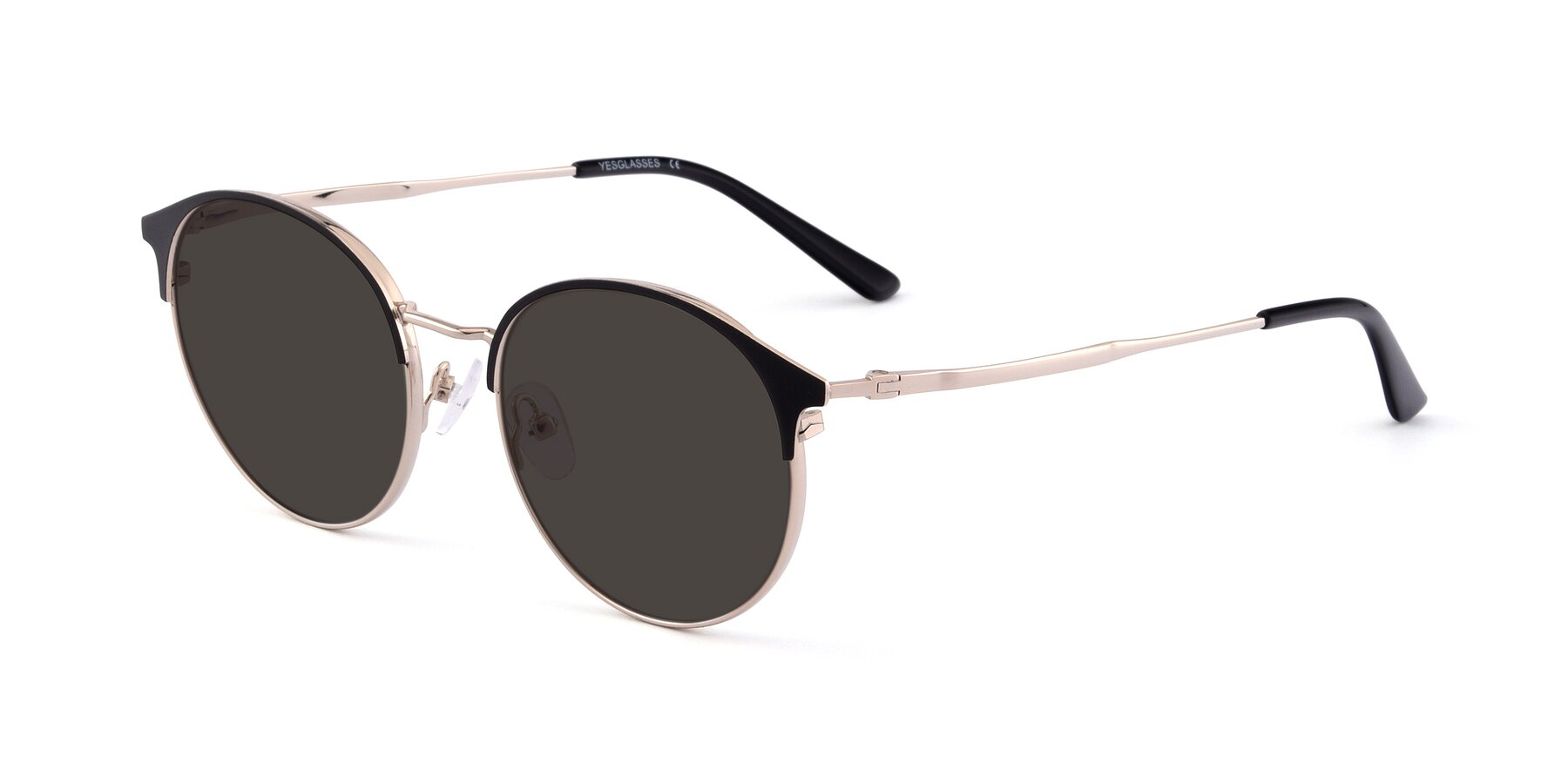 Angle of Berkley in Black-Gold with Gray Tinted Lenses