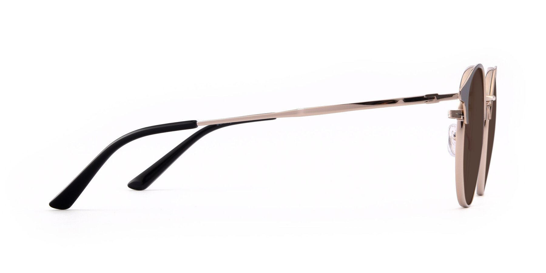 Side of Berkley in Black-Gold with Brown Tinted Lenses