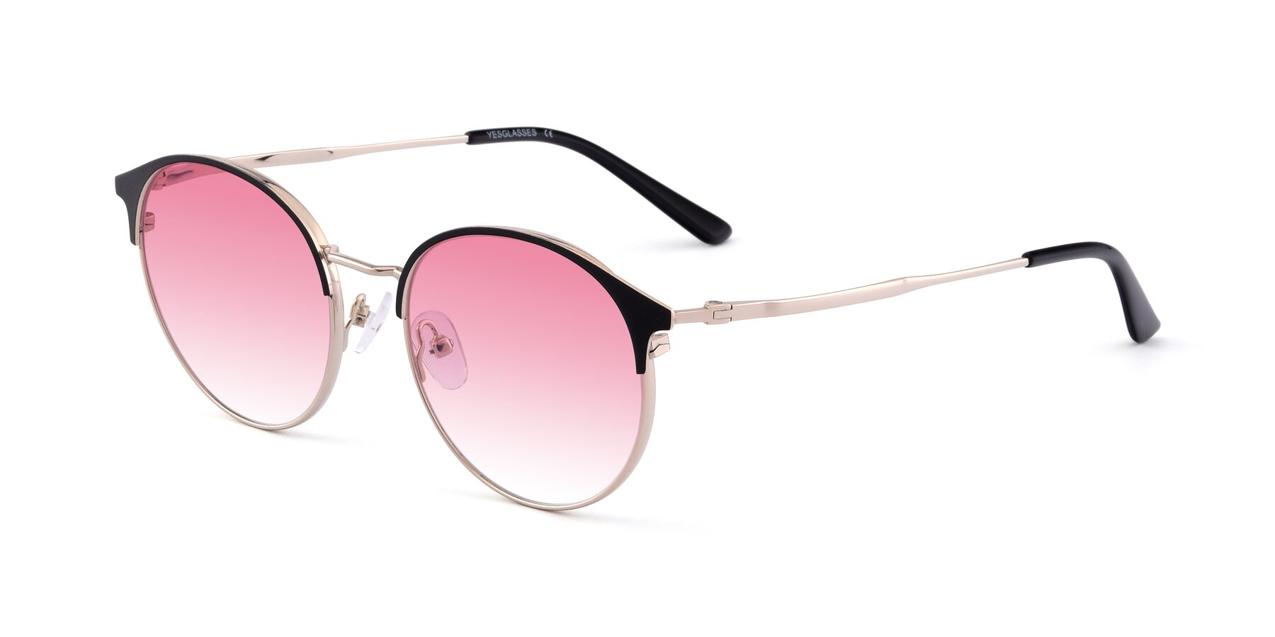 Angle of Berkley in Black-Gold with Pink Gradient Lenses