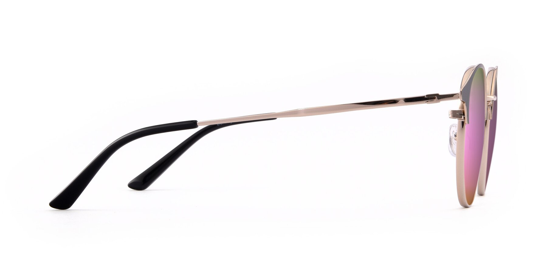 Side of Berkley in Black-Gold with Pink Mirrored Lenses