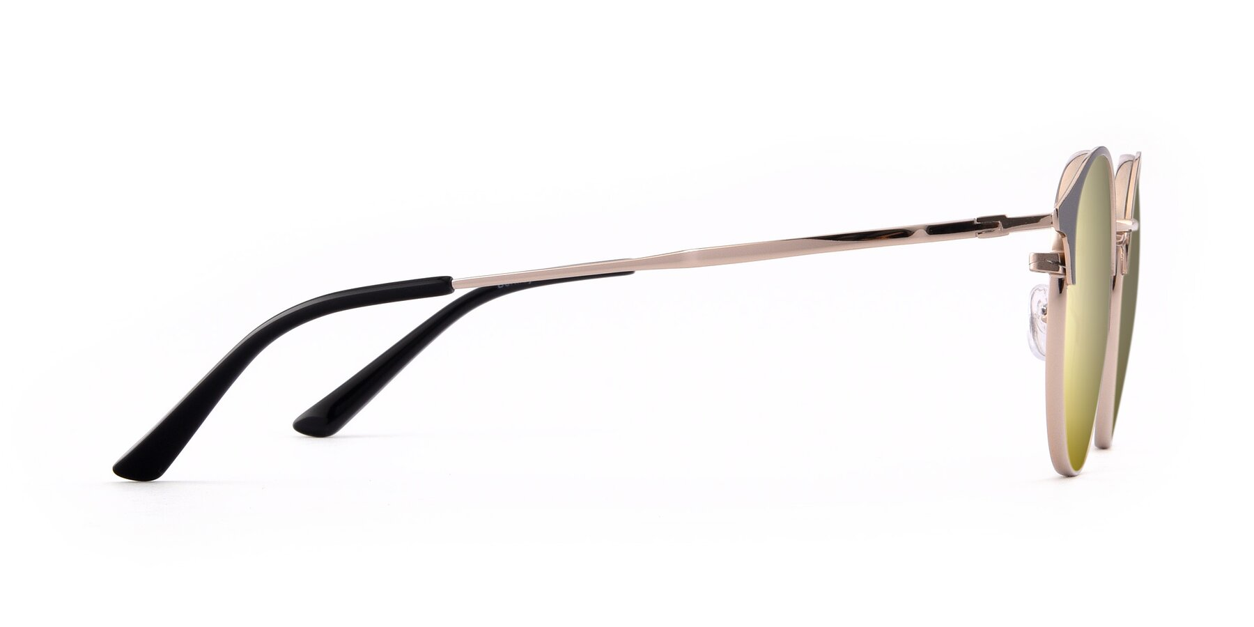 Side of Berkley in Black-Gold with Gold Mirrored Lenses