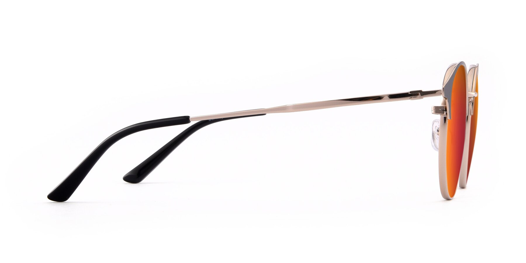 Side of Berkley in Black-Gold with Red Gold Mirrored Lenses