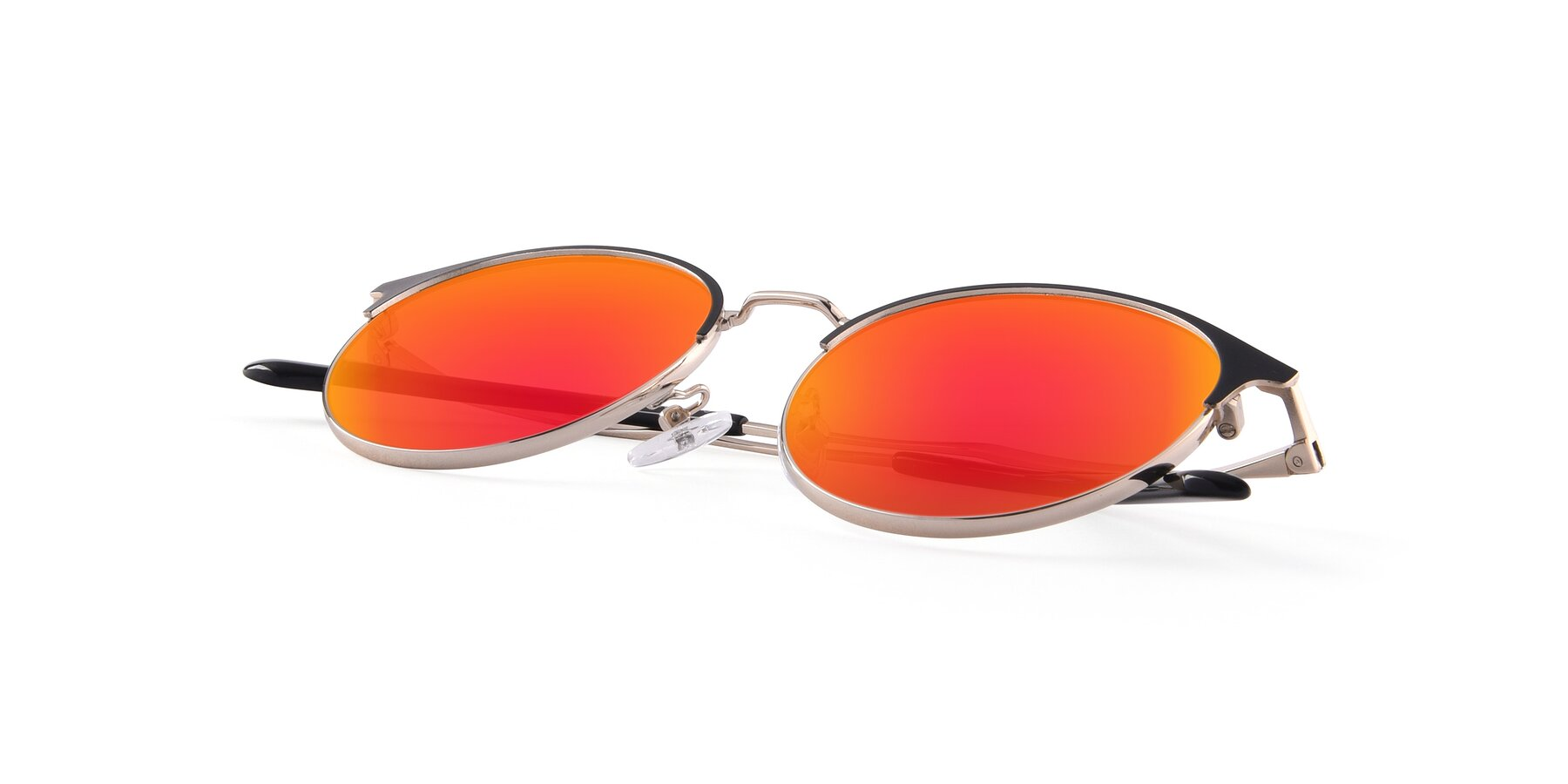 View of Berkley in Black-Gold with Red Gold Mirrored Lenses