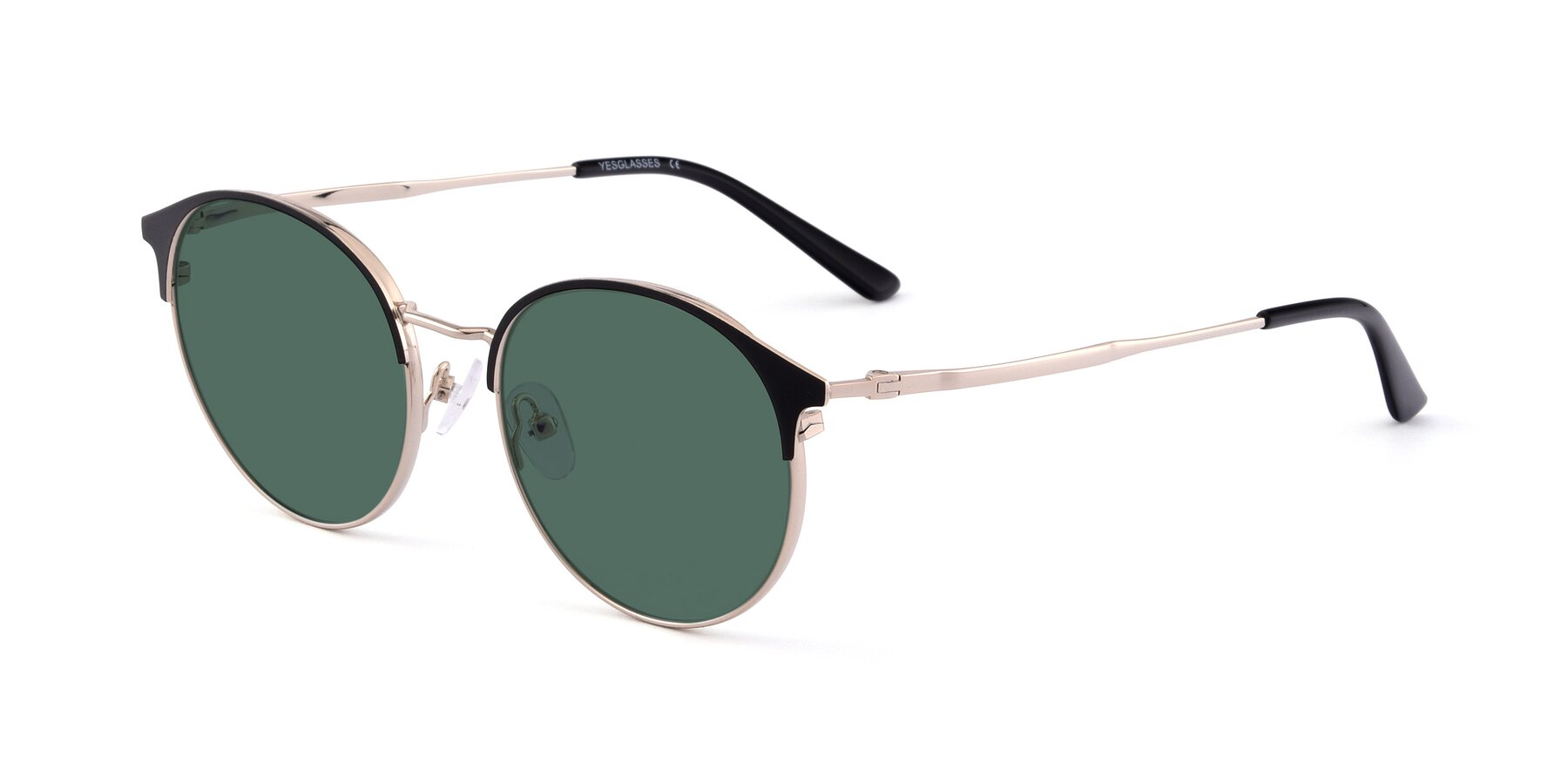 Angle of Berkley in Black-Gold with Green Polarized Lenses