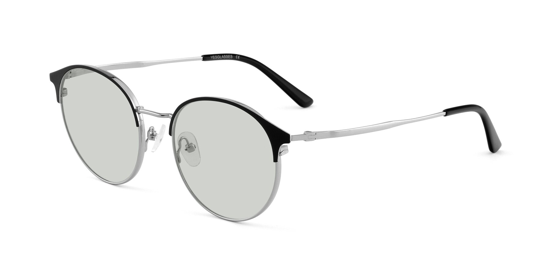Angle of Berkley in Black-Silver with Light Green Tinted Lenses