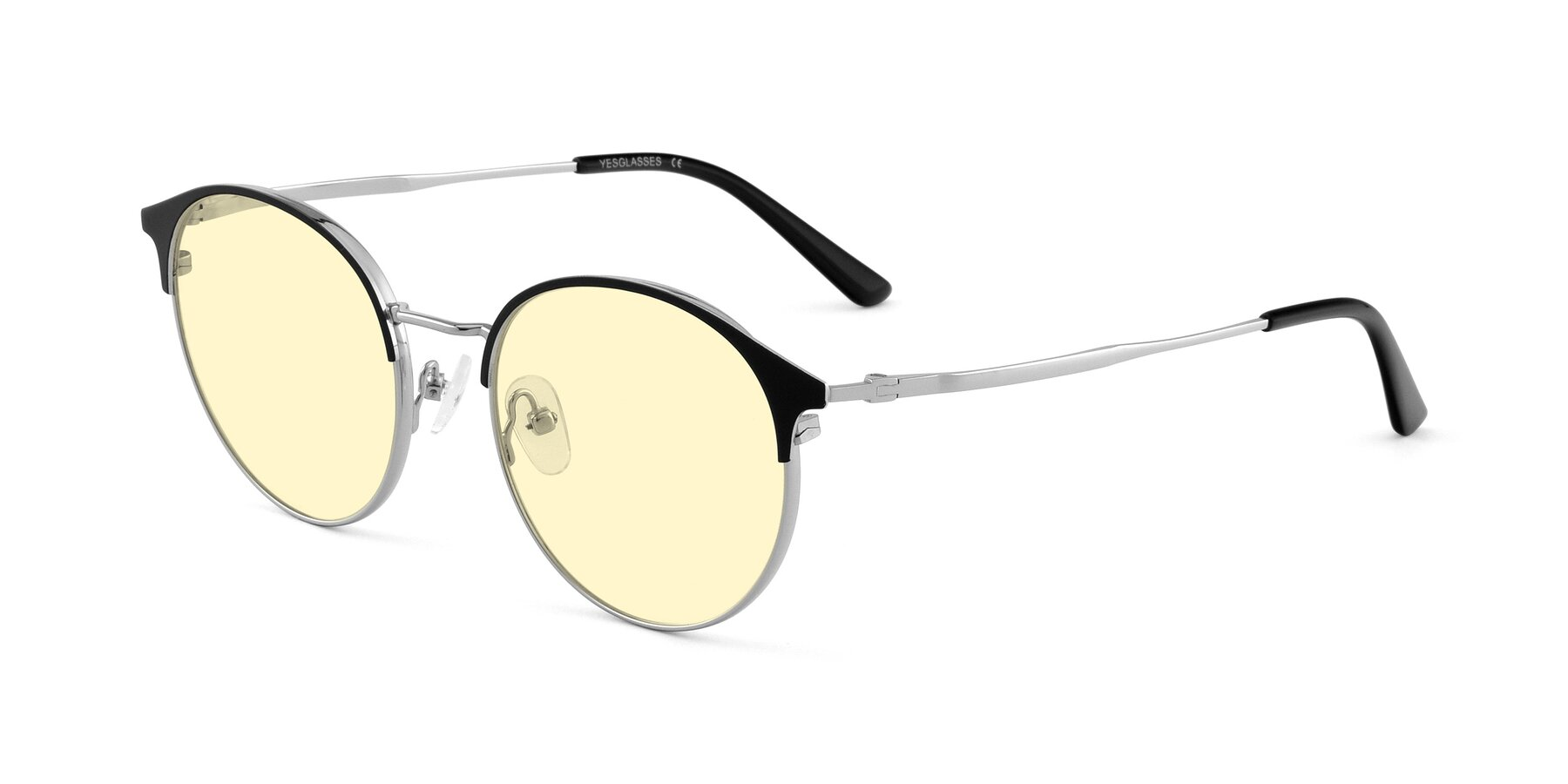 Angle of Berkley in Black-Silver with Light Yellow Tinted Lenses