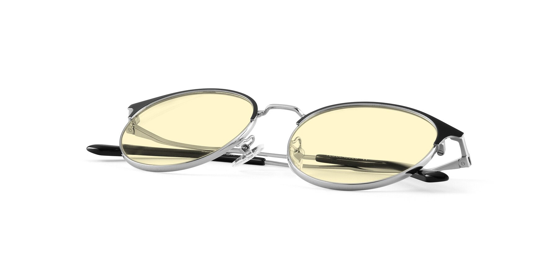 View of Berkley in Black-Silver with Light Yellow Tinted Lenses