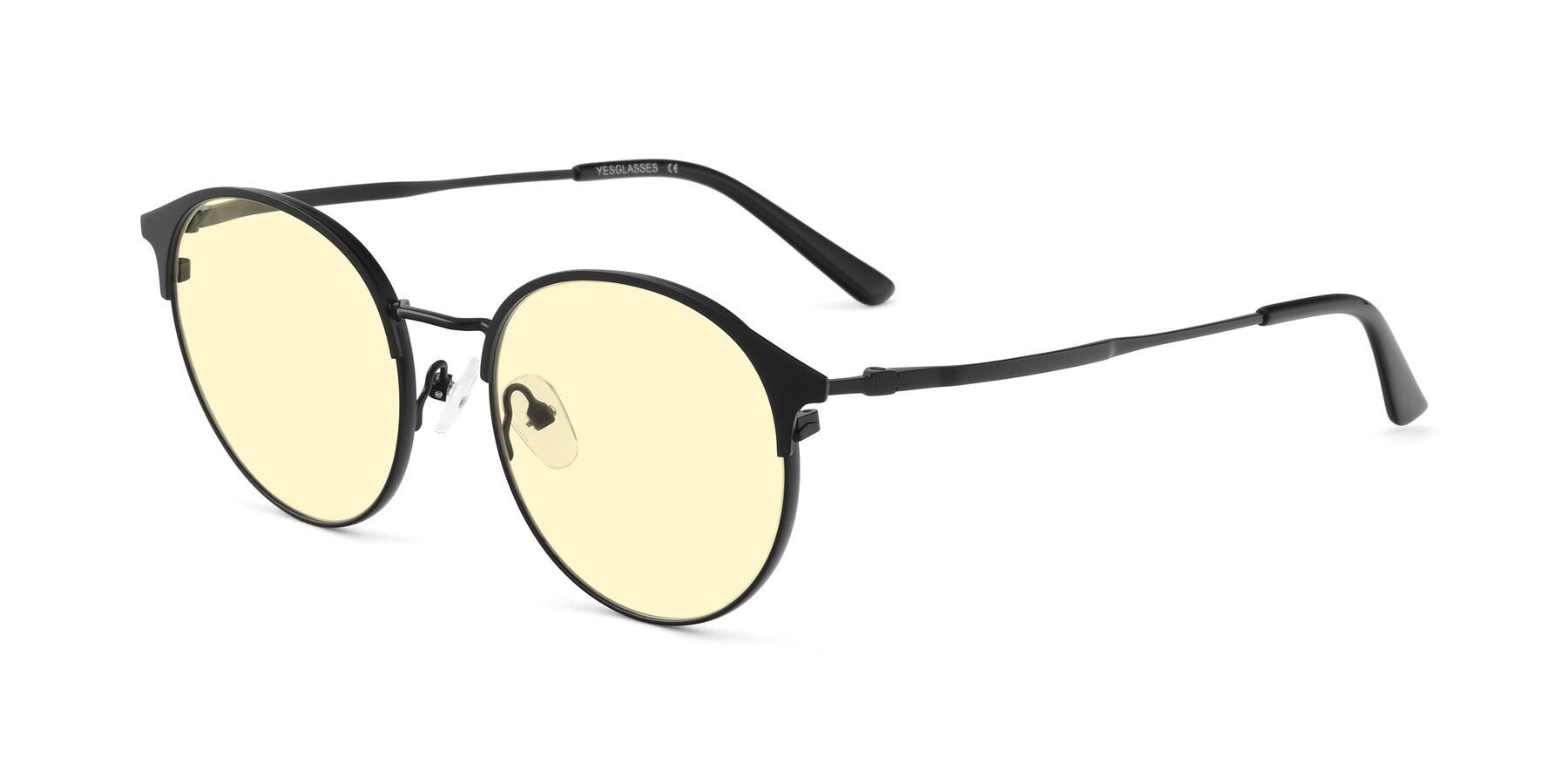 Angle of Berkley in Matte Black with Light Yellow Tinted Lenses
