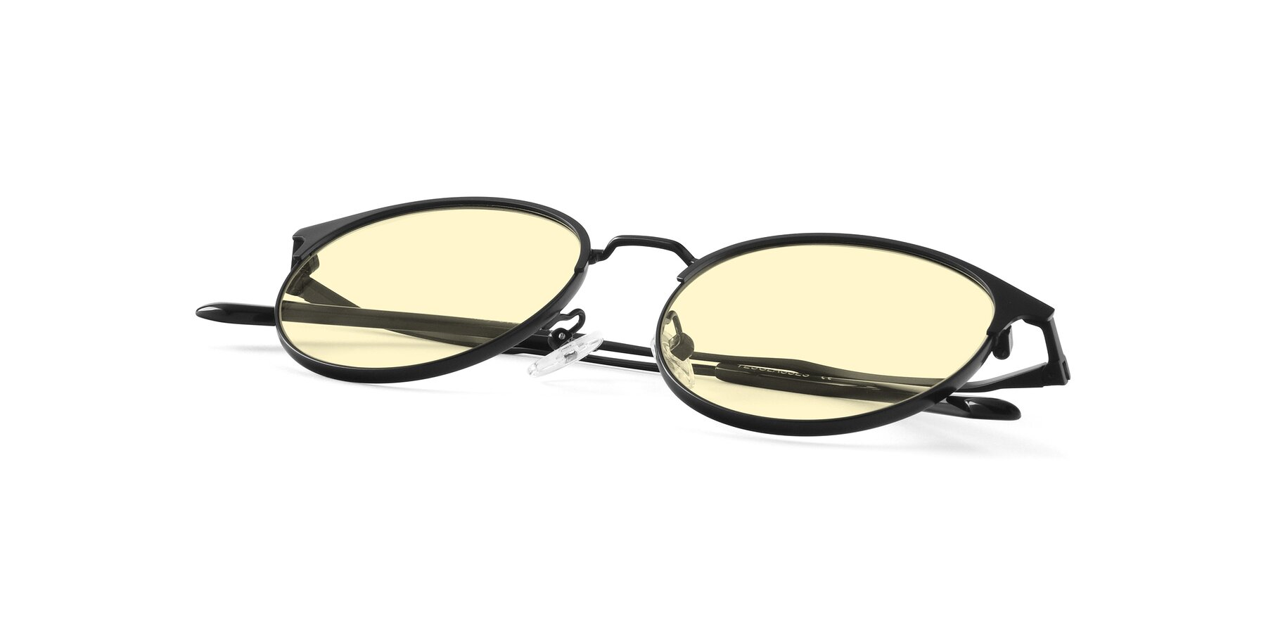 View of Berkley in Matte Black with Light Yellow Tinted Lenses