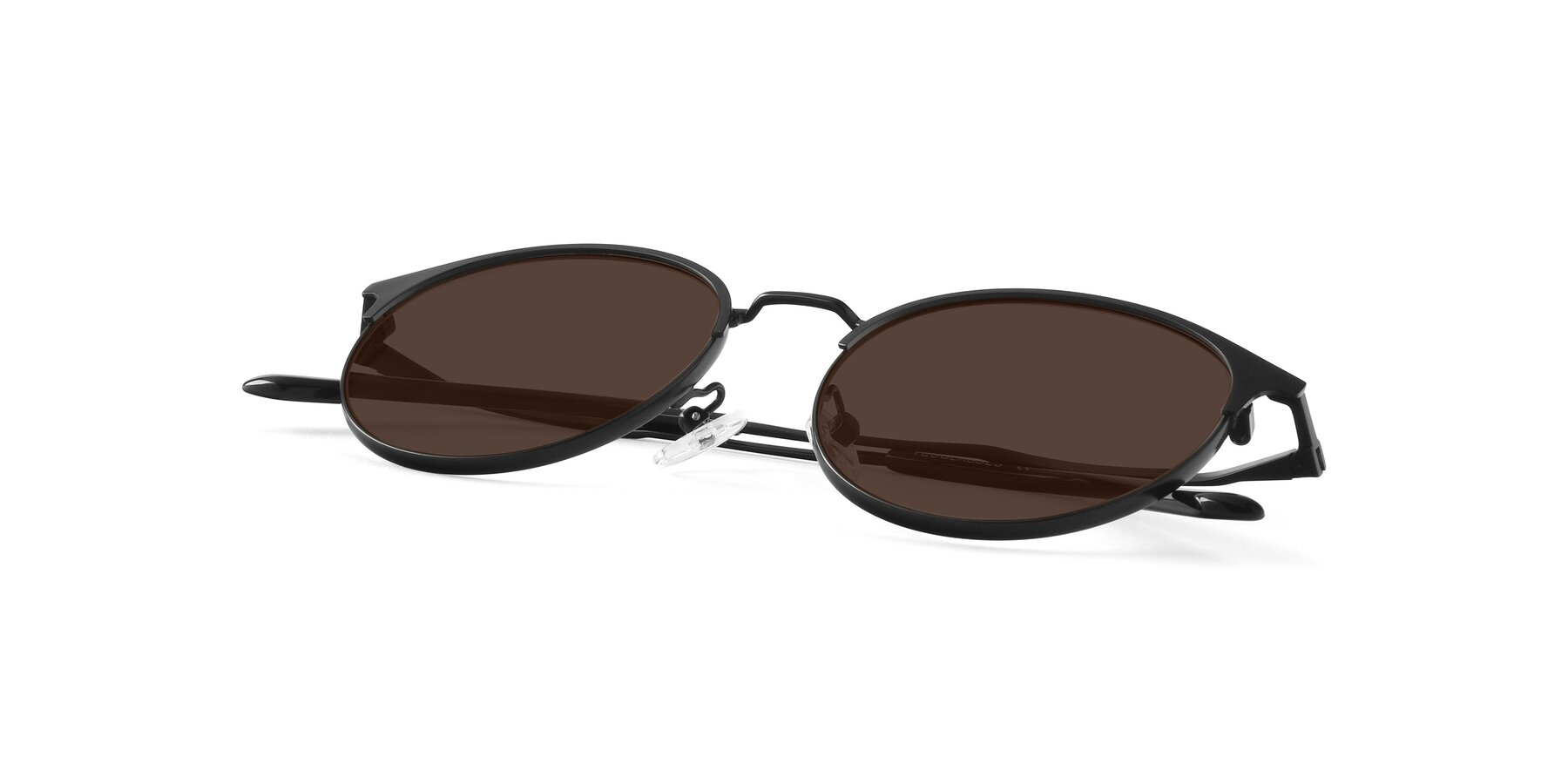 View of Berkley in Matte Black with Brown Tinted Lenses