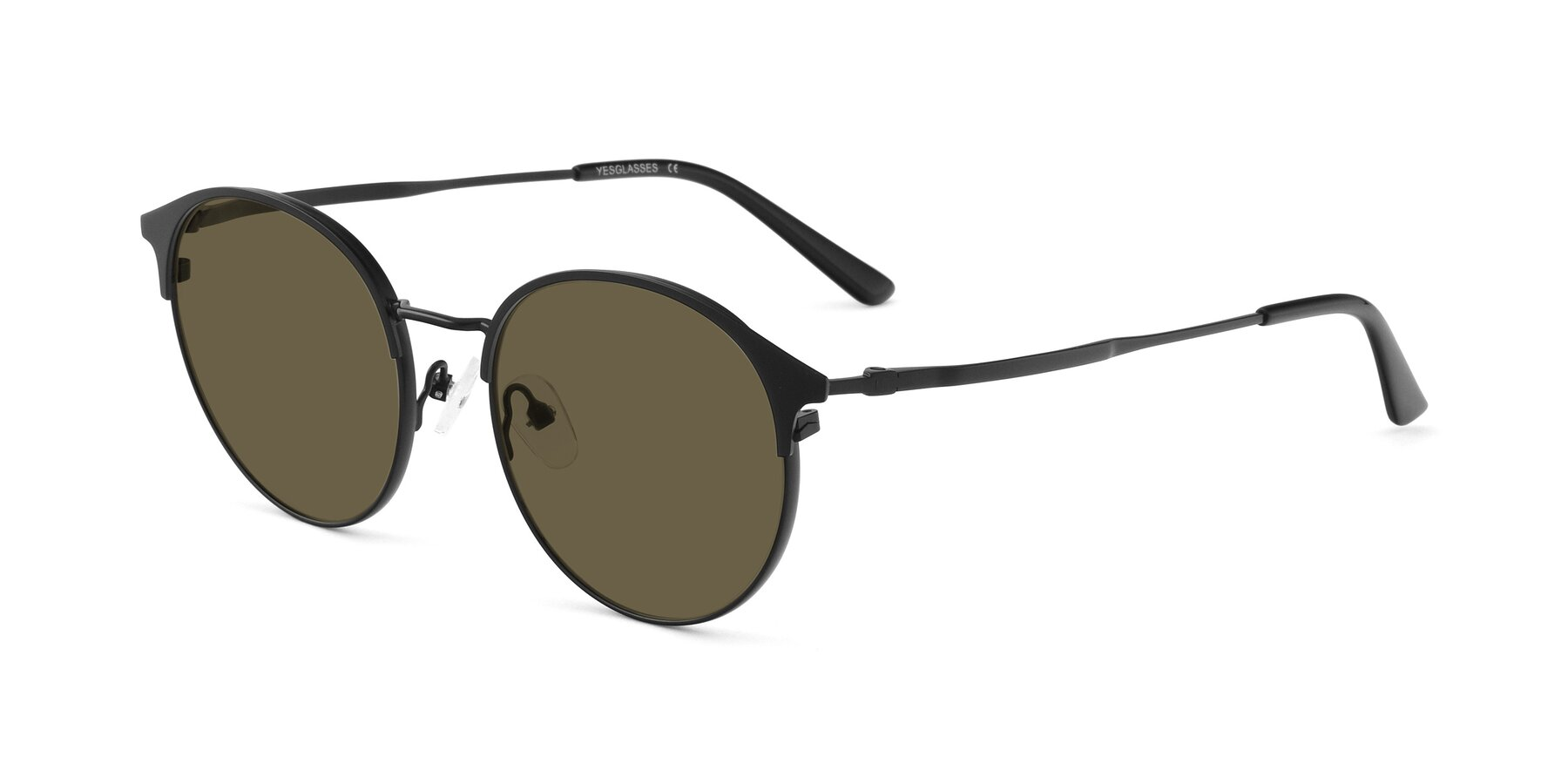 Angle of Berkley in Matte Black with Brown Polarized Lenses