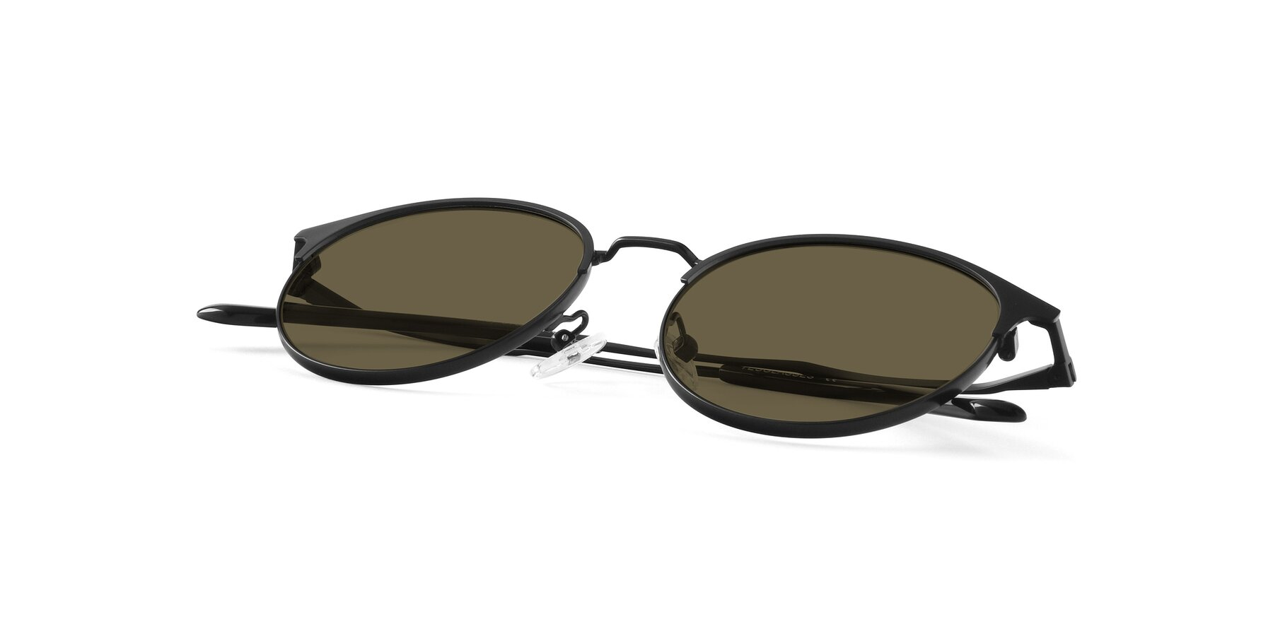 View of Berkley in Matte Black with Brown Polarized Lenses