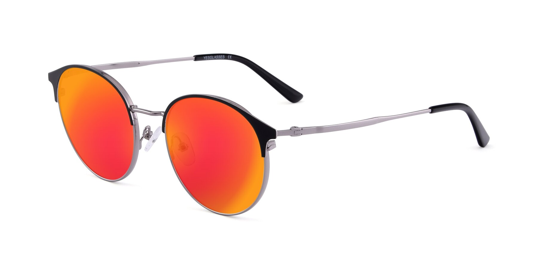 Angle of Berkley in Black-Gun with Red Gold Mirrored Lenses