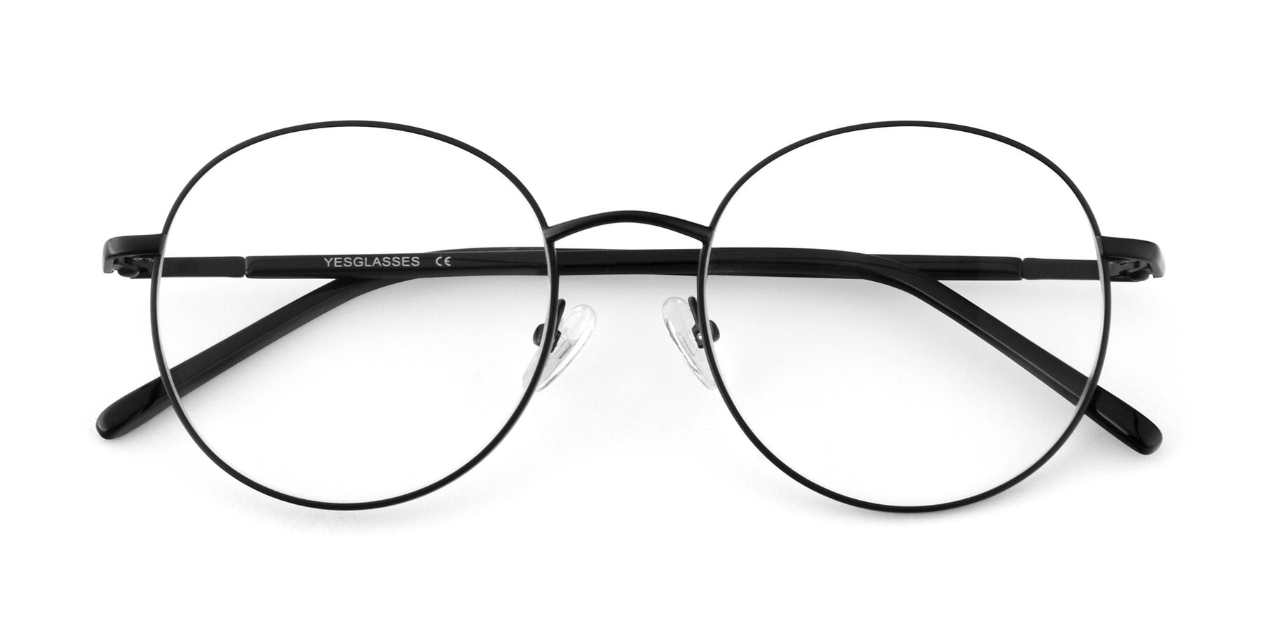 Folded Front of Cosmos in Black with Clear Eyeglass Lenses
