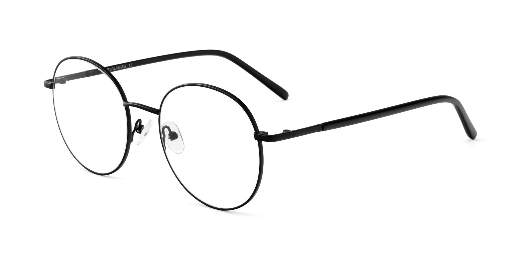 Angle of Cosmos in Black with Clear Eyeglass Lenses