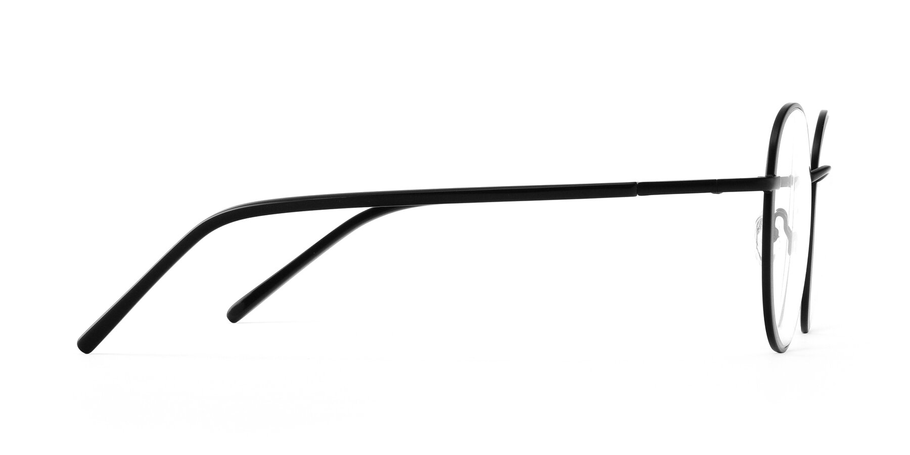 Side of Cosmos in Black with Clear Eyeglass Lenses
