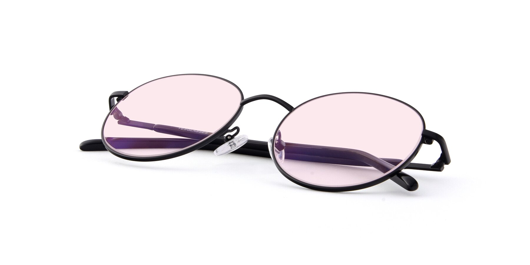 View of Cosmos in Black with Light Pink Tinted Lenses