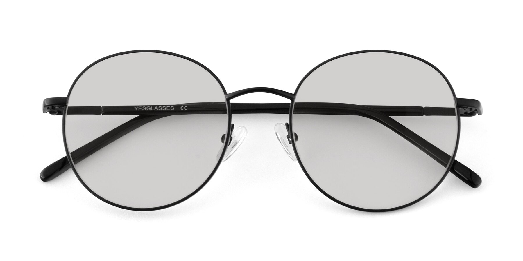 Folded Front of Cosmos in Black with Light Gray Tinted Lenses