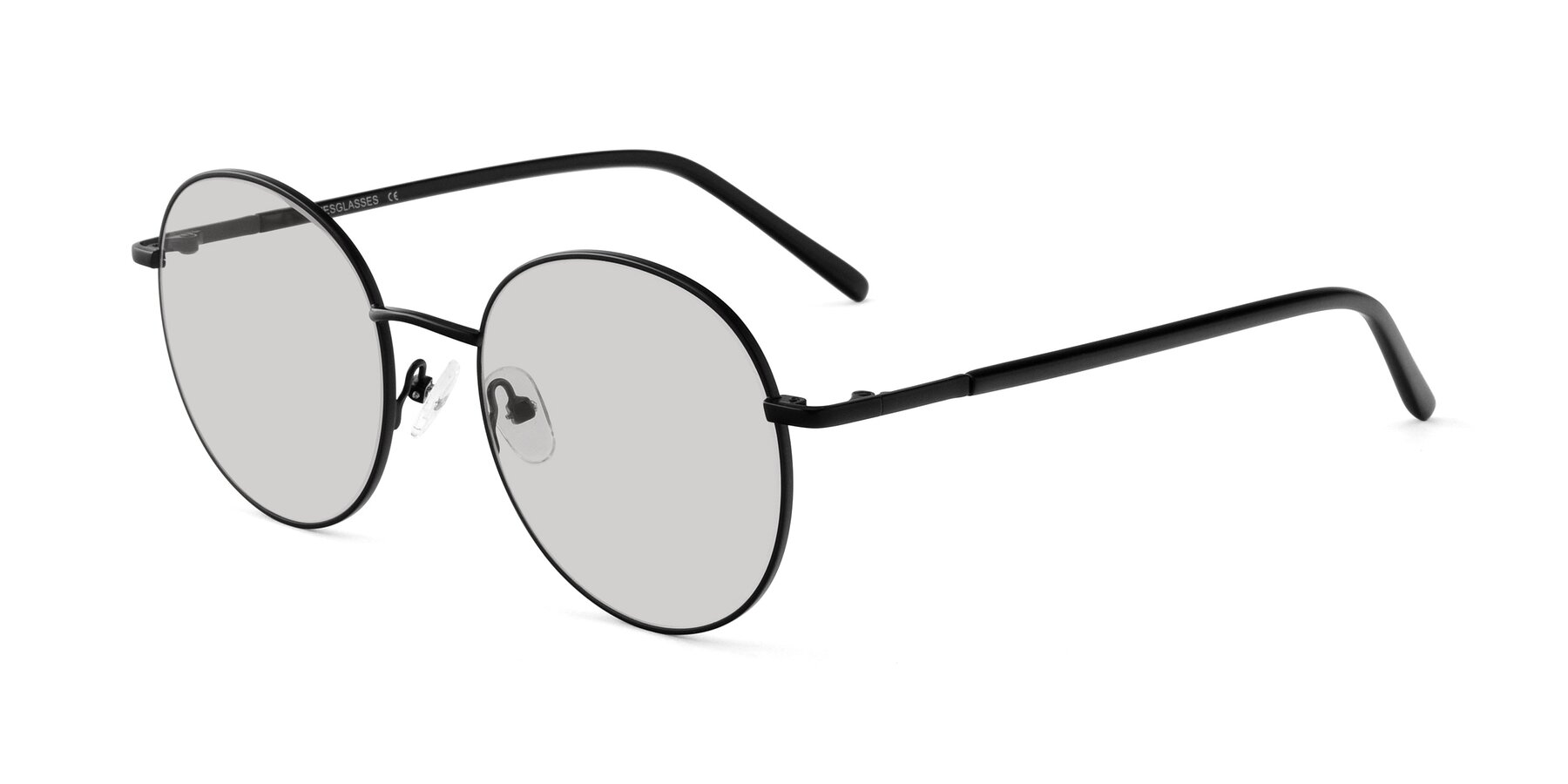 Angle of Cosmos in Black with Light Gray Tinted Lenses