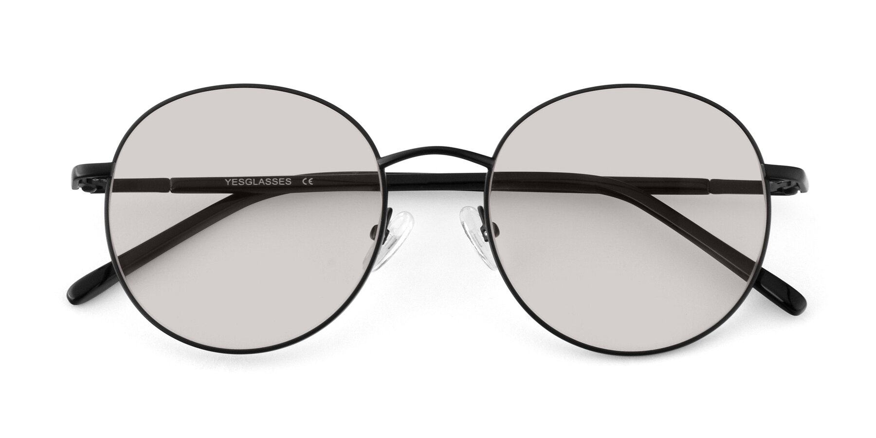 Folded Front of Cosmos in Black with Light Brown Tinted Lenses